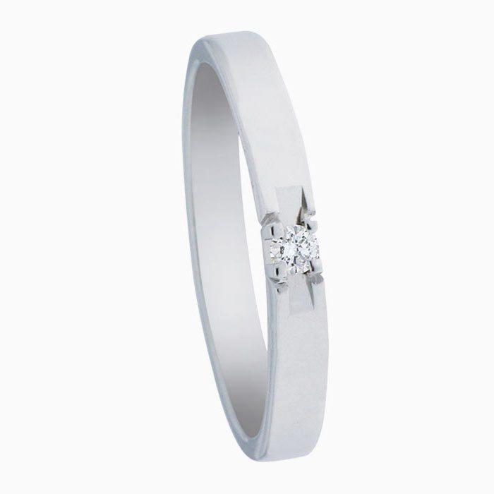 A303 gouden ring met 1 diamant