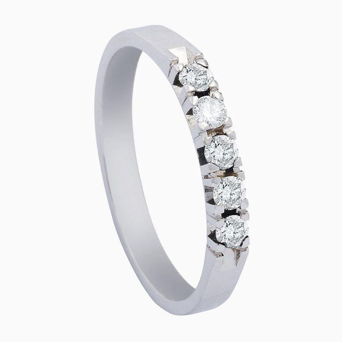 A603 gouden ring met 5 diamangen