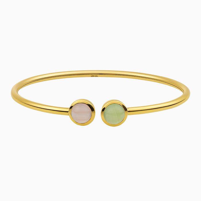 Gouden armband met Chalcedoon