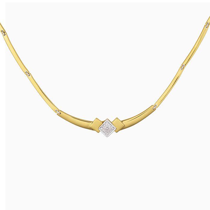 C2019-64 gouden collier met diamanten