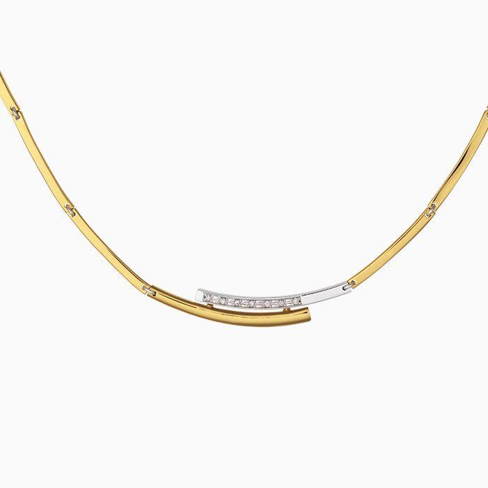 C2019-66 gouden coller met diamant