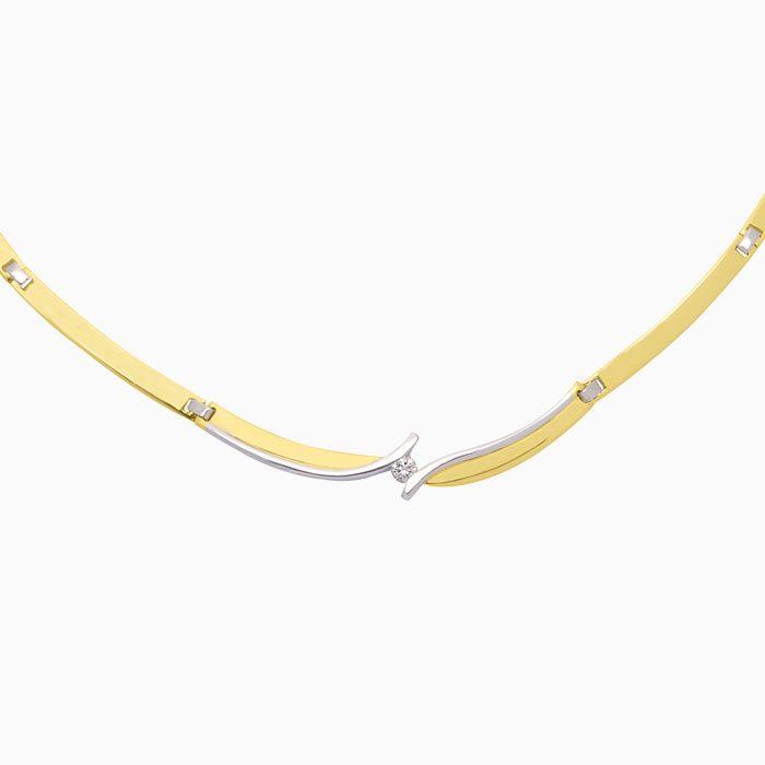 C4237 gouden collier met diamant