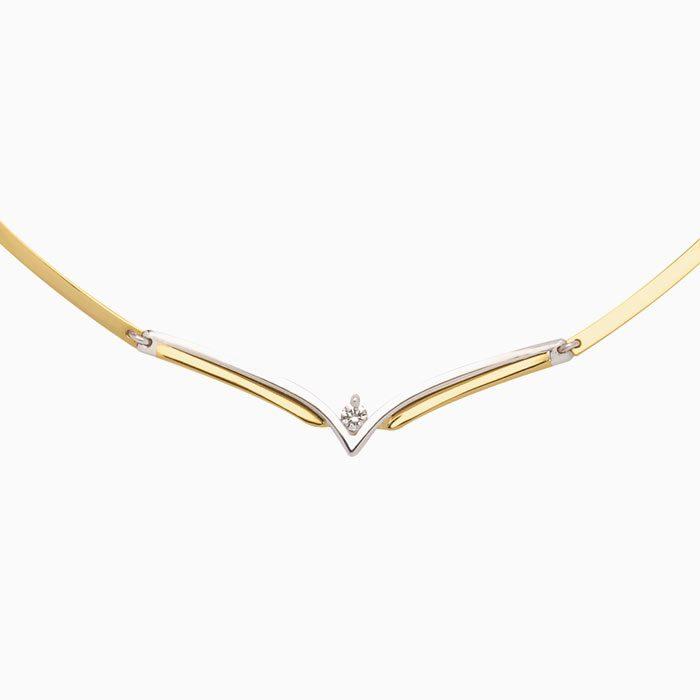 C4241 gouden collier met diamant