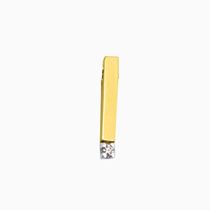 H703-3 gouden hanger met 0,03 crt. diamant