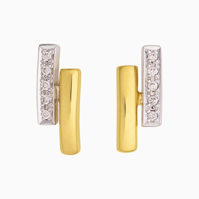 ok2019-66 gouden oorknoppen met diamant