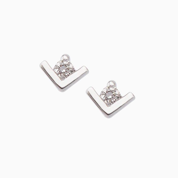 ok4241 gouden oorknoppen met diamant