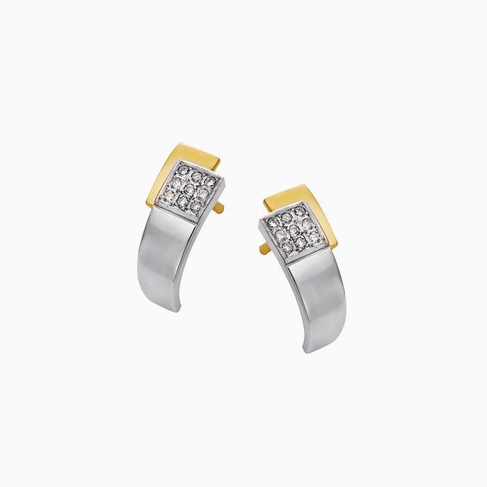 ok4280 gouden oorknoppen met diamant