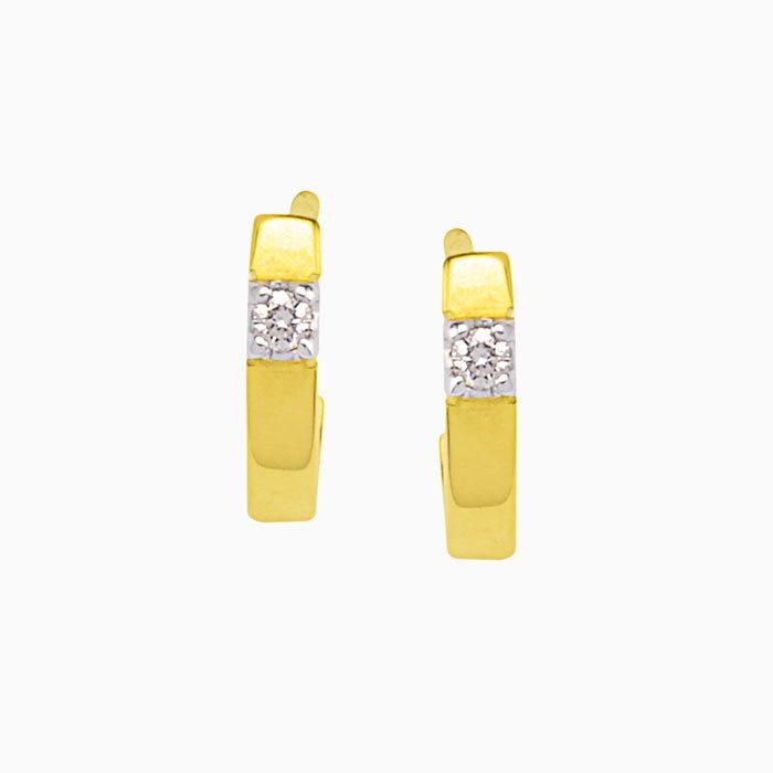 OK603-6 gouden oorknoppen met 0,06 crt. diamant