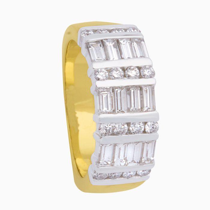 R1714 exclusieve gouden ring ,et 1,60 crt diamant