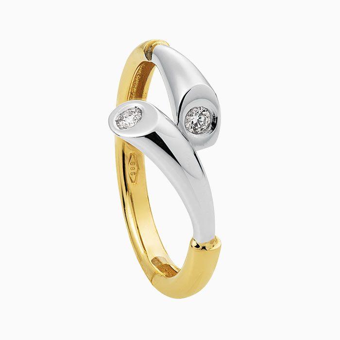 R1790-junior gouden ring met diamant