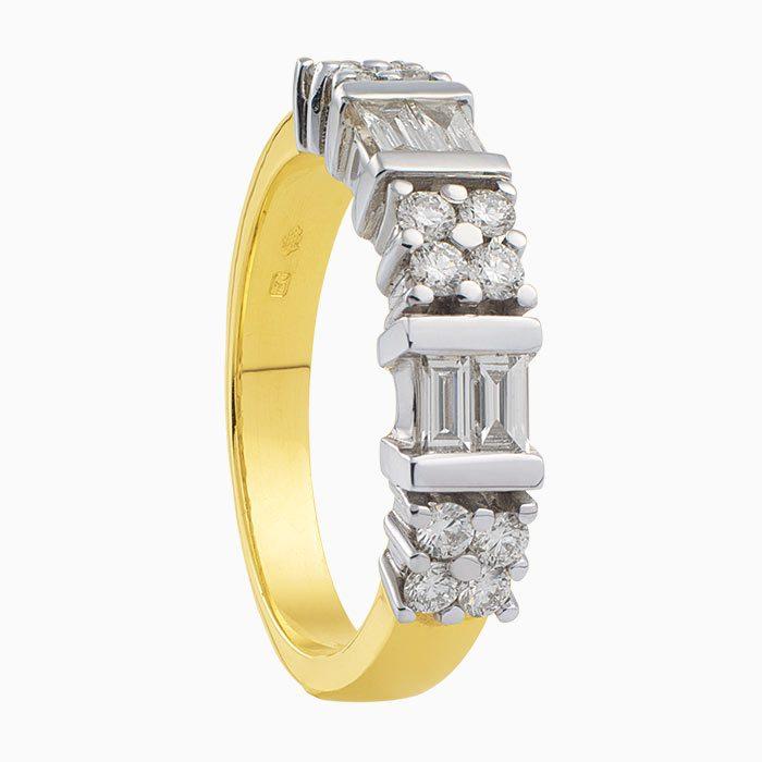 R2016-26 exclusieve gouden ring met diamanten
