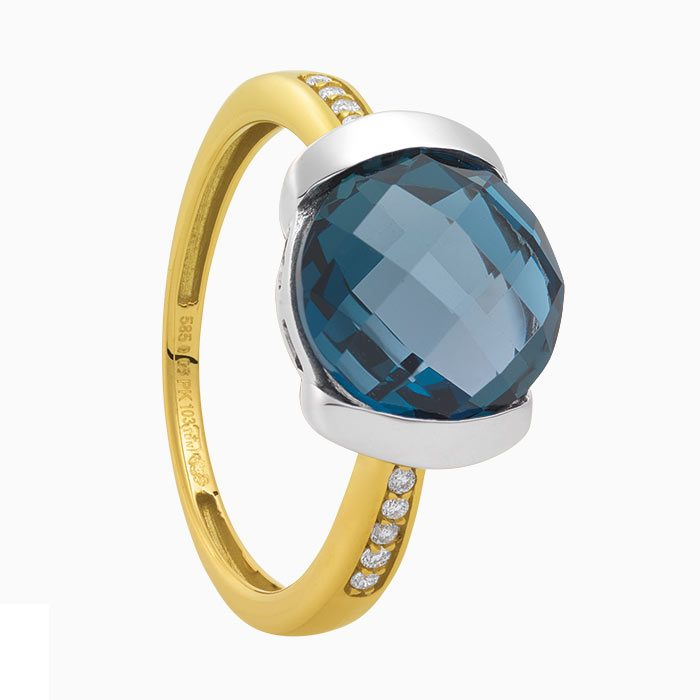 R2019/5 ring met london blauw topaas