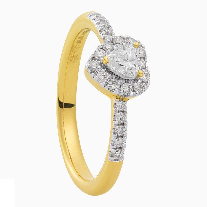r2019-54 gouden ring met diamant