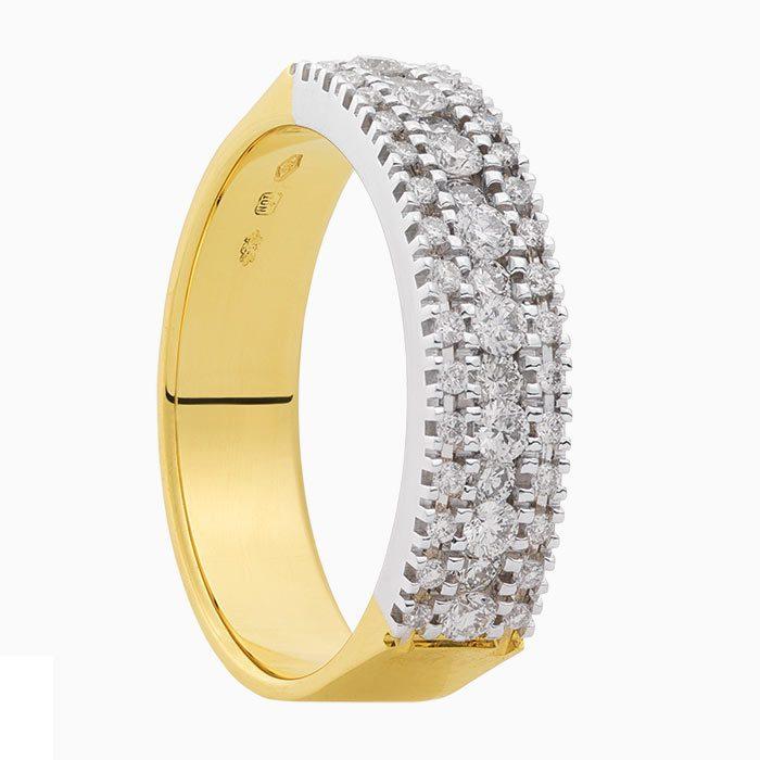 R2019-55 geelgouden ring me 0,60 crt diamant