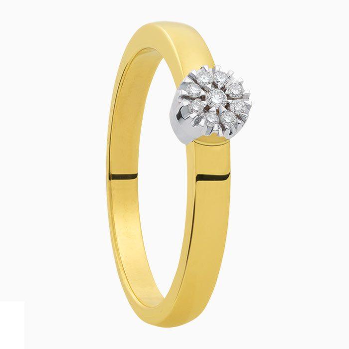 R2019-57 gouden ring met 0,07 crt diamant