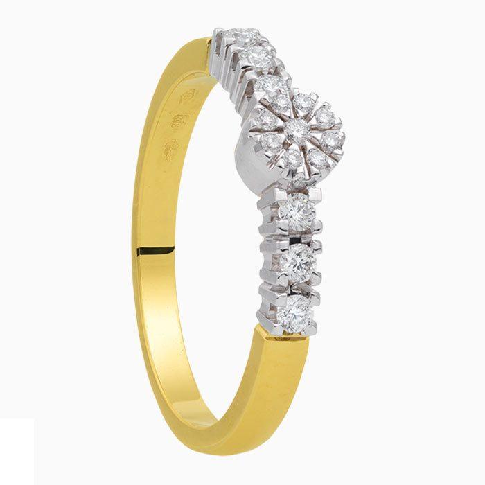R2019-58 gouden ring 0,25 crt