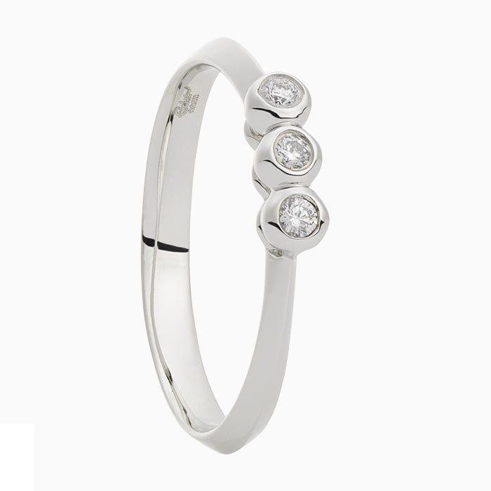 R2019-60 wit gouden ring met diamant