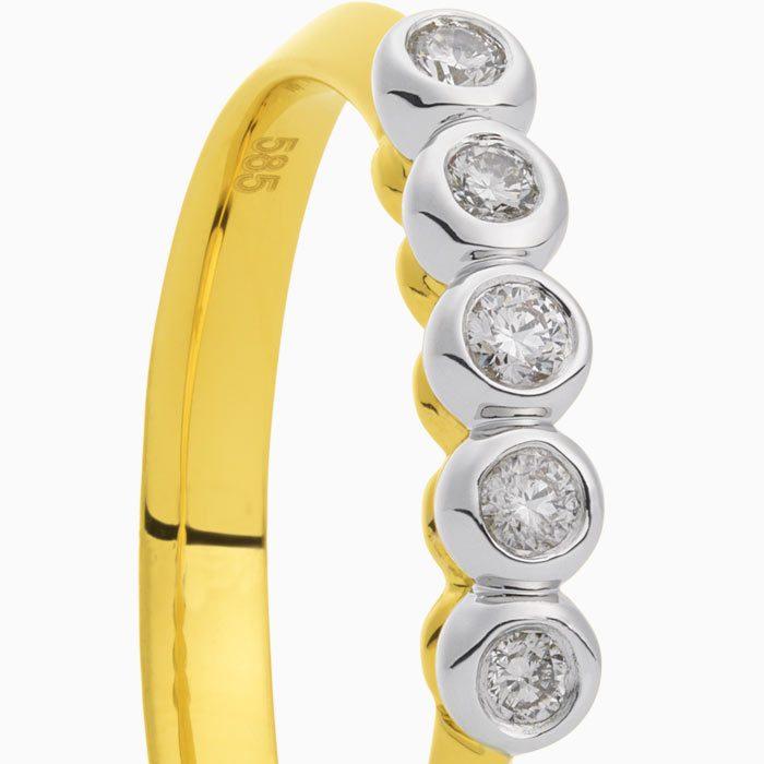 R2019-61 gouden ring inzet