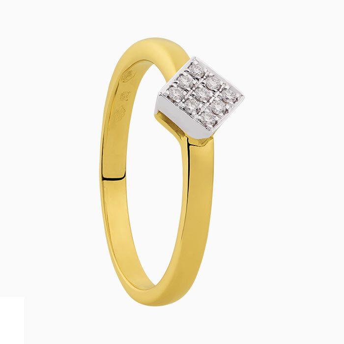 R2019-64 gouden ring met diamanten