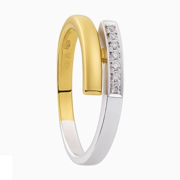 r2019-66 gouden ring met diamant