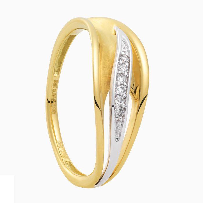 R2019-8 gouden ring met diamant