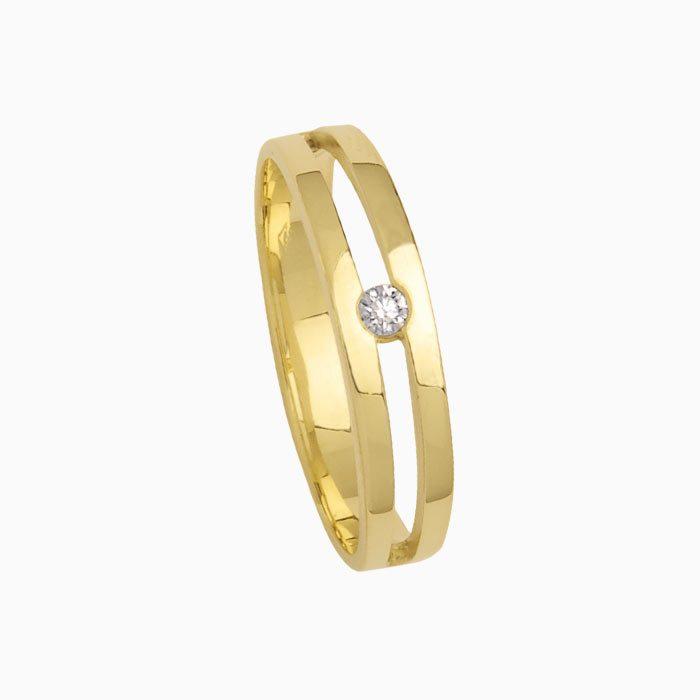 r3005 gouden ring met diamant