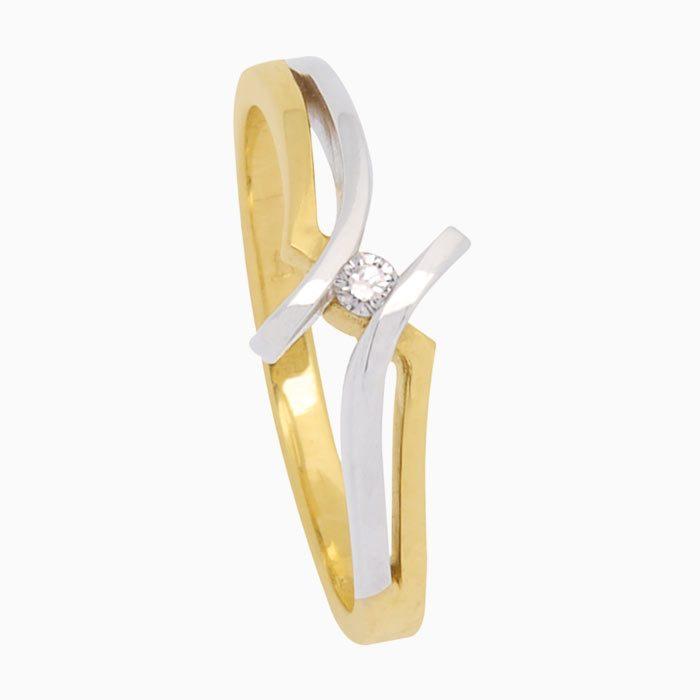 R4237 groeibriljant ring goud met diamant