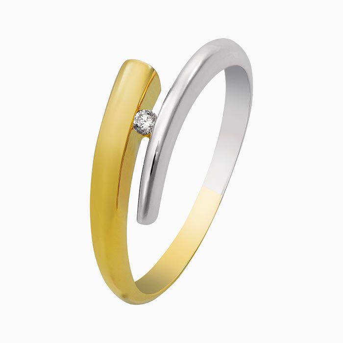 R4260 gouden ring met diamant