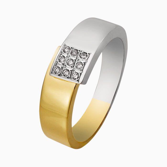 r4280 gouden ring met diamant