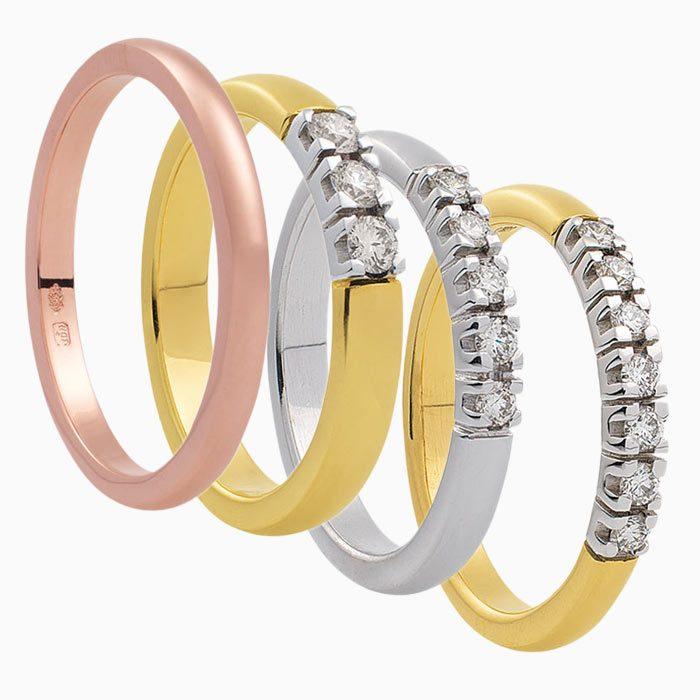 M703 verzameling gouden alliance ringen