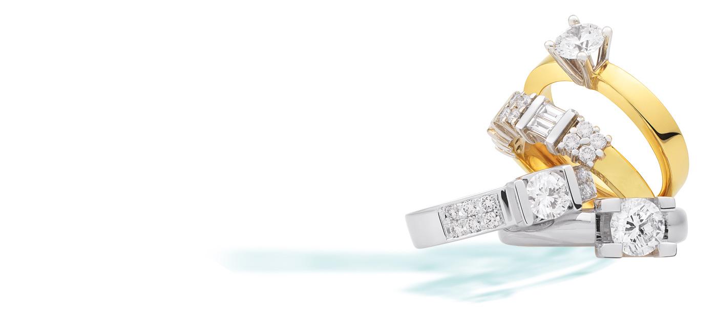Eclat exclusieve gouden sieraden en ringen met diamanten