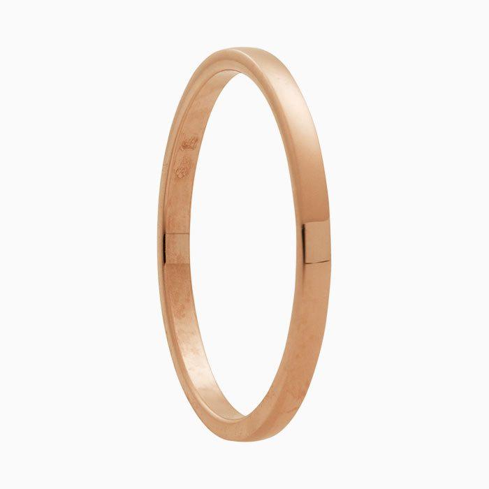 nr. 2 bijzet ring roze goud