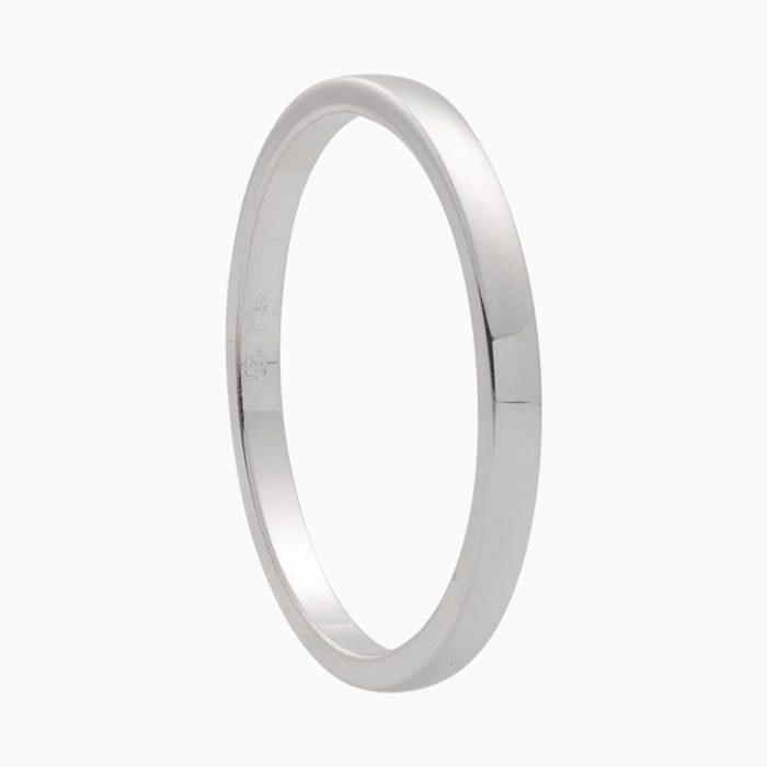 wit gouden bijzet ring glad