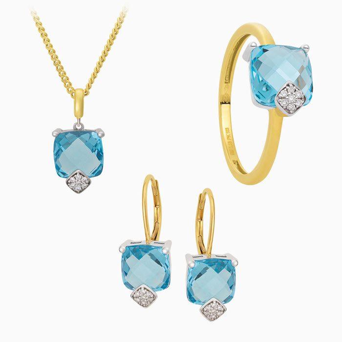 2019-9 set met diamant en sky blue topaas