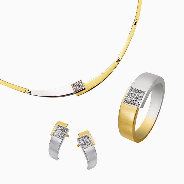 4280 set gouden sieraden met diamant