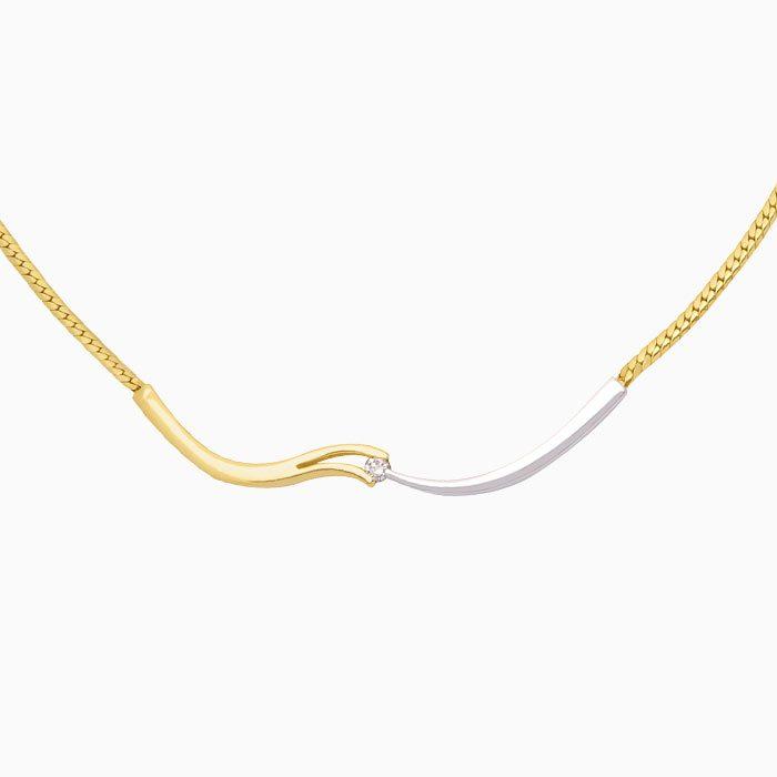 v-slag collier2 goud met diamant