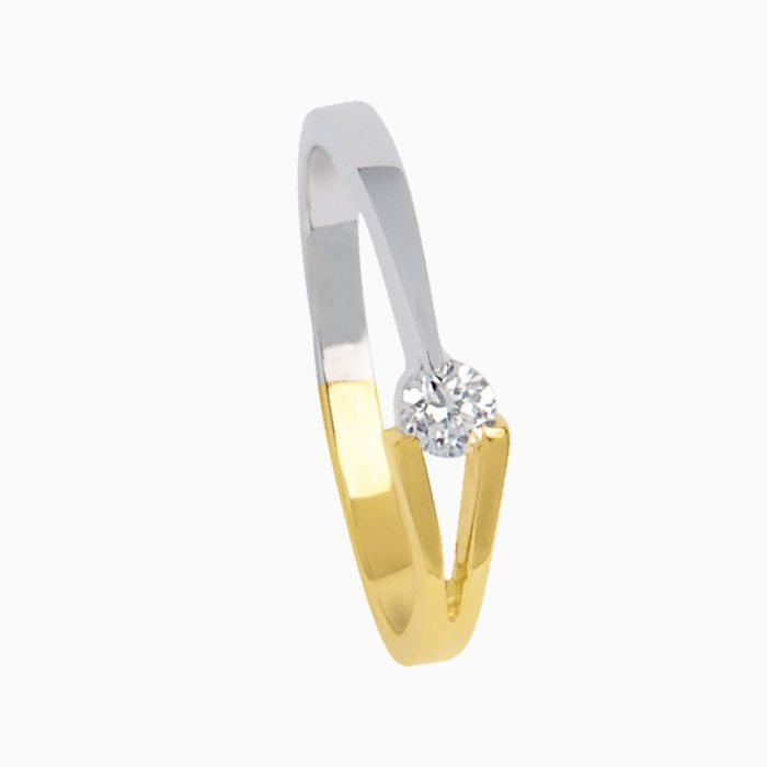Victorie ring goud met diamant groeibriljant