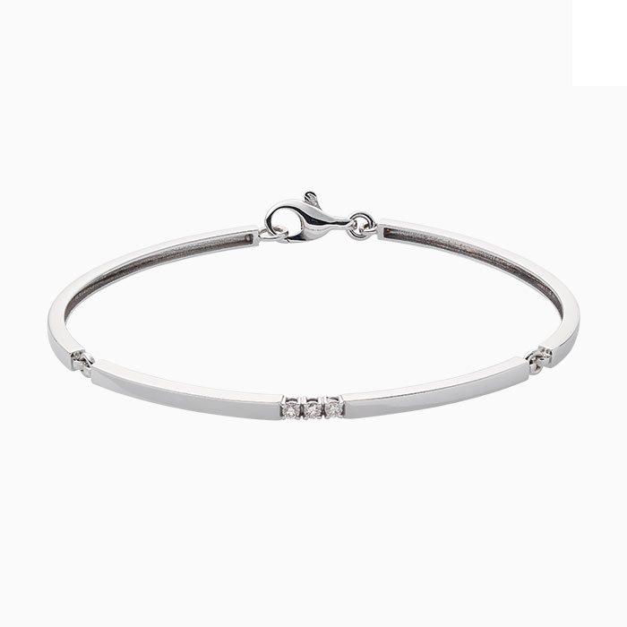 B101 witgouden armband met diamant