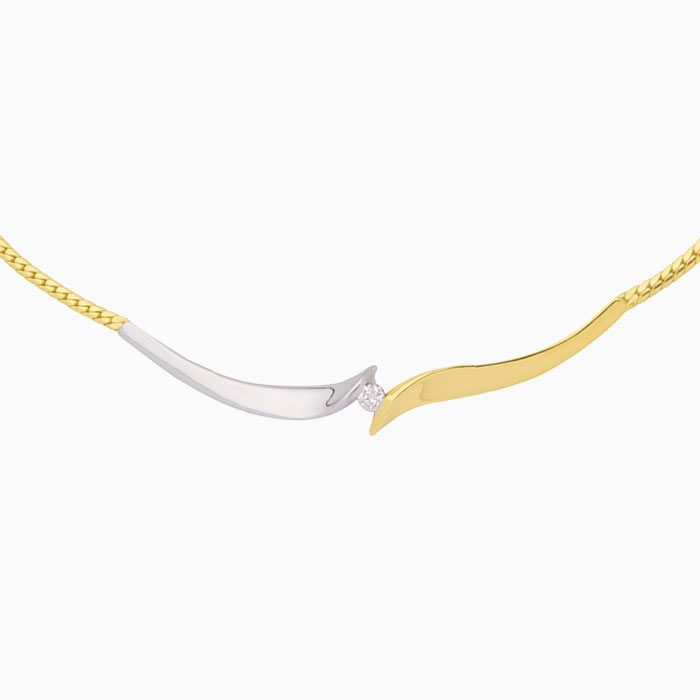 capri collier goud met diamant