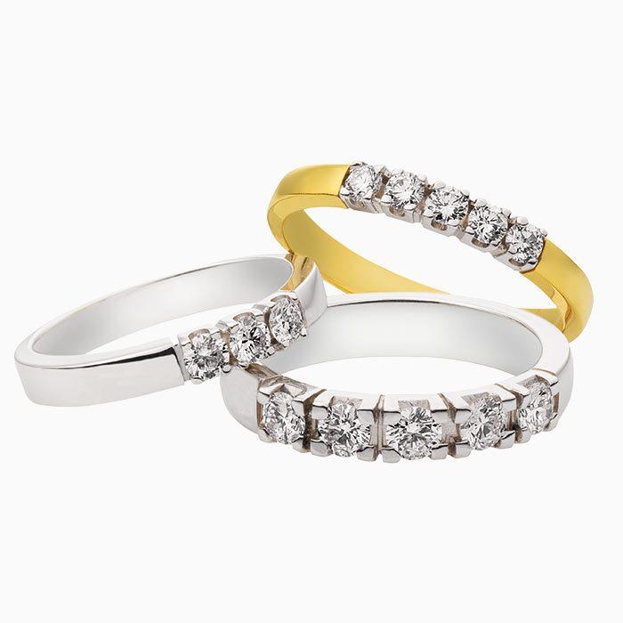 m101 gouden ring met diamant