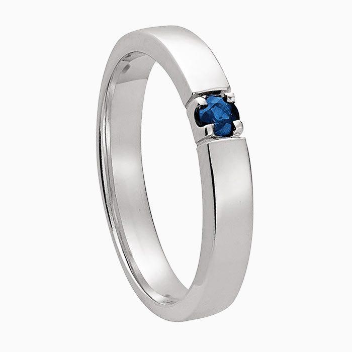 m101 gouden ring met saffier en diamant