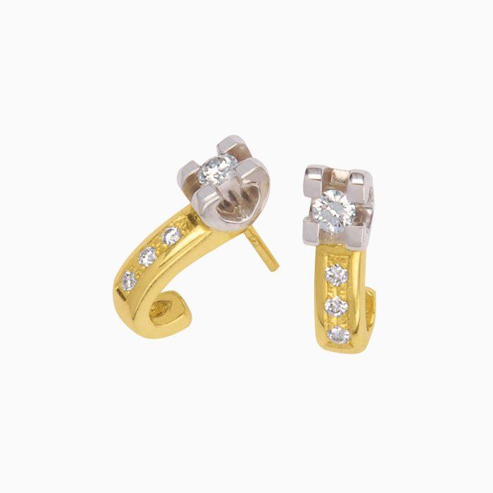 ok22 de luxe gouden oorknoppen met groeibriljant