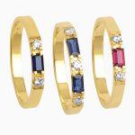 gouden baquette ringen met diamant