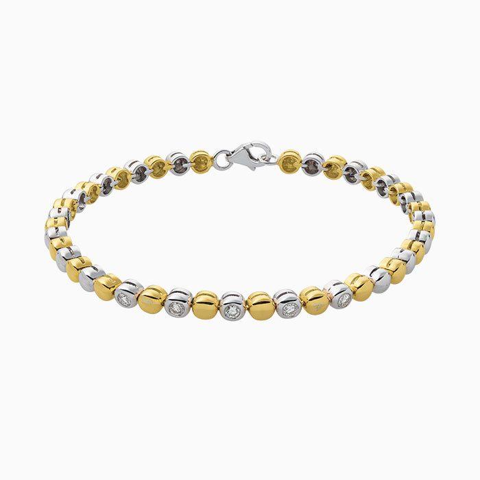 b2016-25 bicolor gouden armand met diamant