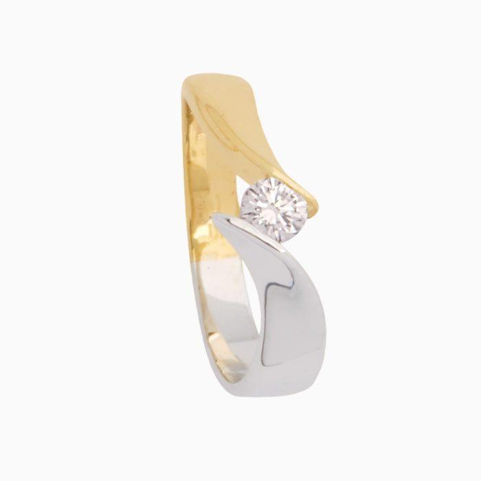 Capri ring goud met diamant groeibriljant