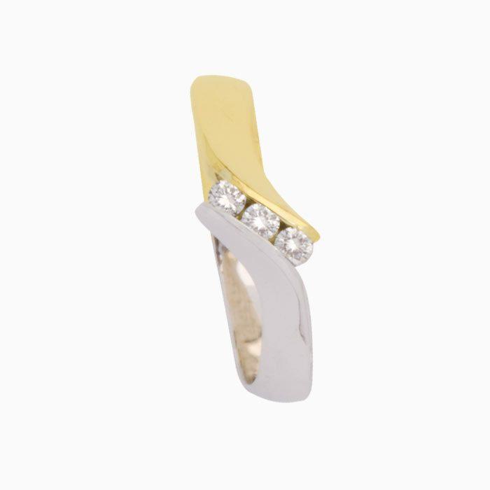 Capri ring goud met diamant 3 steens