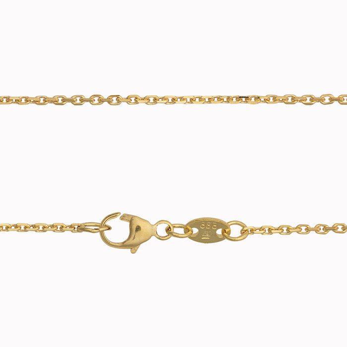 geel gouden anker ketting detail