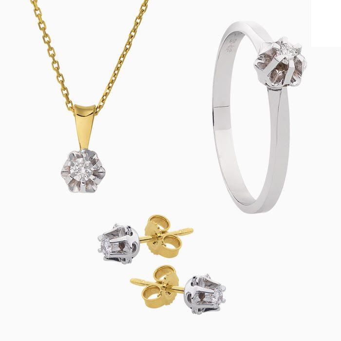 collectie spiegel goud met diamant groeibriljant