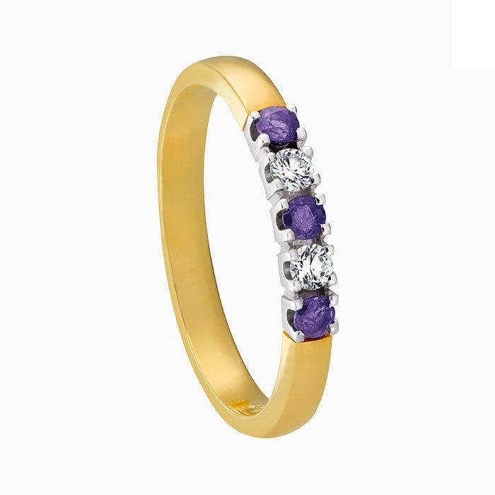 m101 ring met amethist