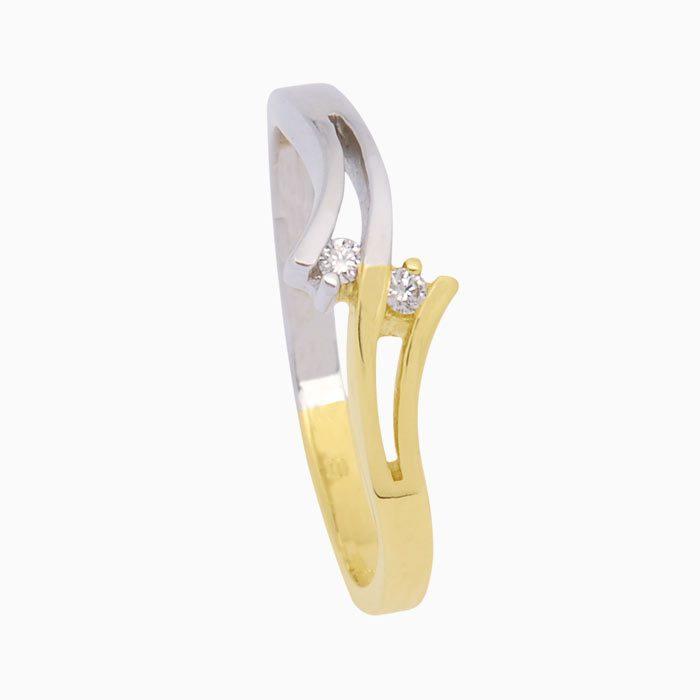 calais-ring goud met diamant